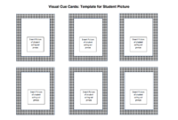 Visual Cue Cards | Udl Strategies – Goalbook Toolkit for Cue Card Template