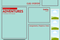 Visual Syllabus Template Made With Canva   High School throughout Blank Syllabus Template