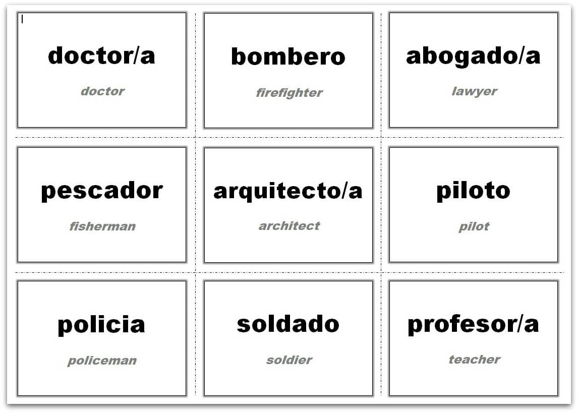 Vocabulary Flash Cards Using Ms Word with Free Printable Flash Cards Template