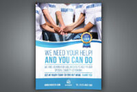 Volunteer Charity Flyer Template pertaining to Volunteer Brochure Template