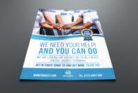 Volunteer Charity Flyer Template with regard to Volunteer Brochure Template