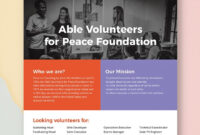 Volunteer Flyer | Flyer Template, Booklet Template, Flyer with regard to Templates For Flyers In Word