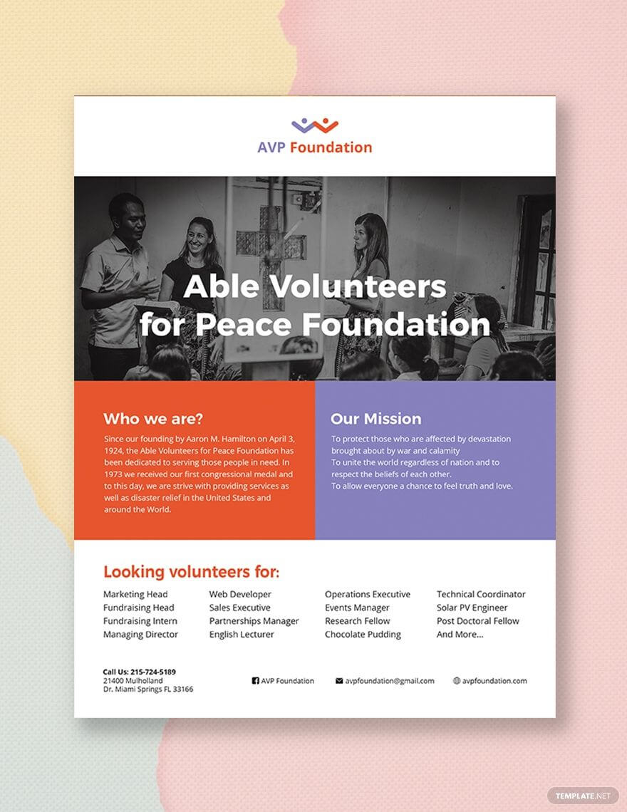 Volunteer Flyer   Flyer Template, Booklet Template, Flyer with regard to Templates For Flyers In Word