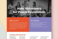 Volunteer Flyer   Flyer Template, Booklet Template, Flyer within Volunteer Brochure Template