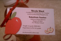 """Wards Way Of Teaching: One """"spook""""tober Post   Teacher with Business Cards For Teachers Templates Free"""