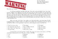 Warning Letter From Santa Naught List | Christmas | Santa intended for Letter From Santa Template Word