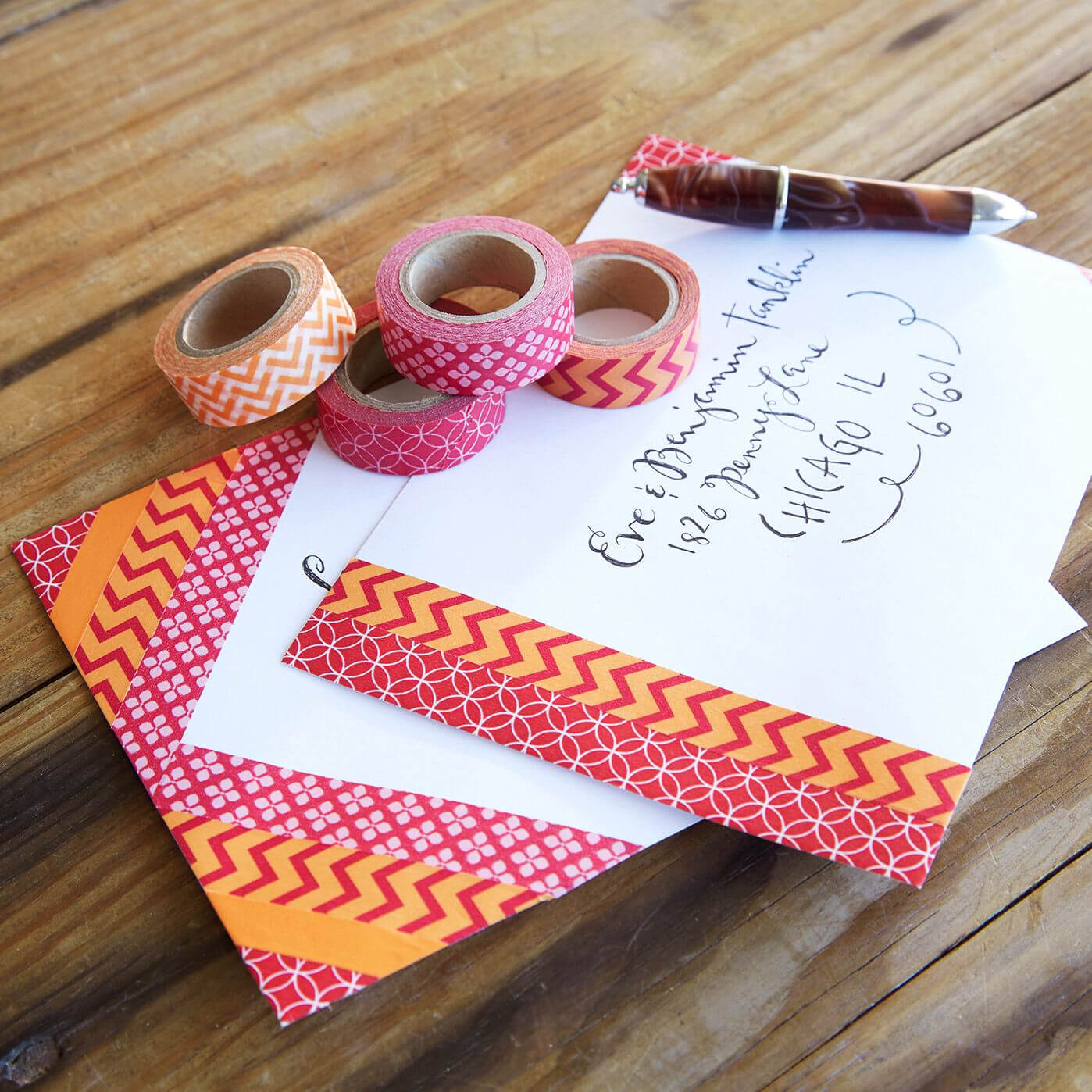 Washi Tape Decorated Envelopes | Washi! | Decorated within Recollections Cards And Envelopes Templates