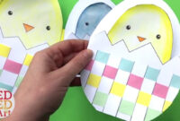 Weaving Chick Cards With Template – Easy Easter Card Diy Ideas with regard to Easter Card Template Ks2