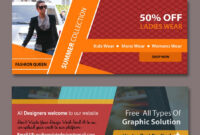 Web Banners Templates | Free Website Psd Banners | Web within Free Online Banner Templates