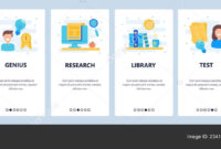 Web Site Onboarding Screens. Education, High School And Throughout College Banner Template