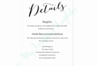 Wedding Accommodation Card Free 010 Free Wedding Ac Modation pertaining to Wedding Hotel Information Card Template