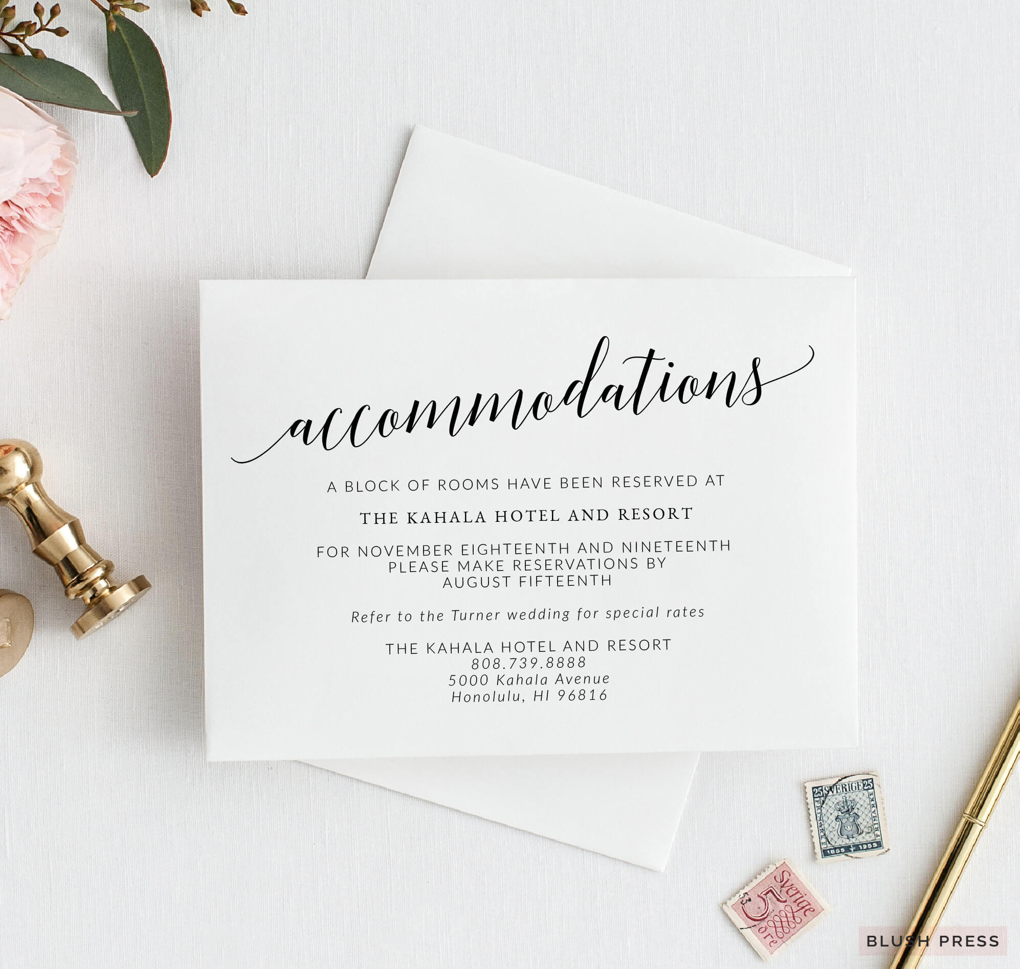 Wedding Accommodations Card Template, Printable Wedding Details Insert,  Wedding Info Card, Enclosure Card, Savannah Collection Sav-037 with regard to Wedding Hotel Information Card Template