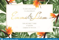 Wedding Event Invitation Rsvp Card Template. Green Monstera regarding Event Invitation Card Template
