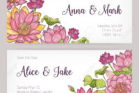 Wedding Invitation And Save The Date Card Templates Decorated.. pertaining to Save The Date Cards Templates