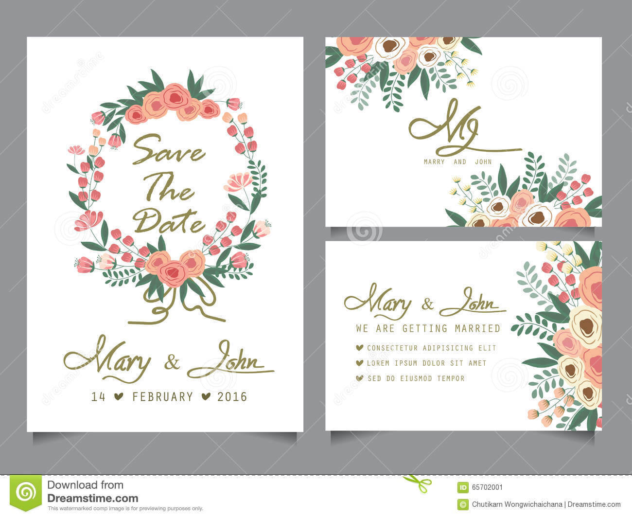 Wedding Invitation Card Template Stock Vector - Illustration with Anniversary Card Template Word