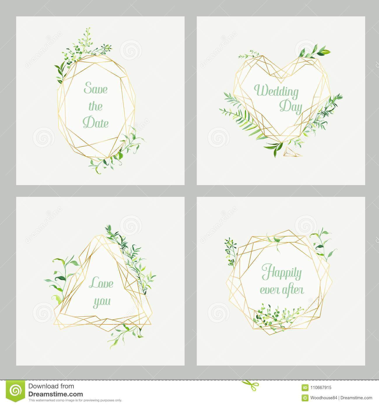 Wedding Invitation Floral Templates Set. Save The Date With Celebrate It Templates Place Cards