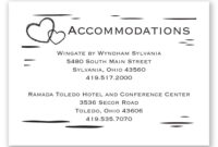 Wedding Invitation Hotel Information Card Wording Printing within Wedding Hotel Information Card Template