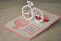 Wedding Invitation Linked Rings Pop Up Card Template for Wedding Pop Up Card Template Free