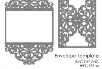 Wedding Invitation Pattern Card Template Lace Folds (Studio regarding Silhouette Cameo Card Templates
