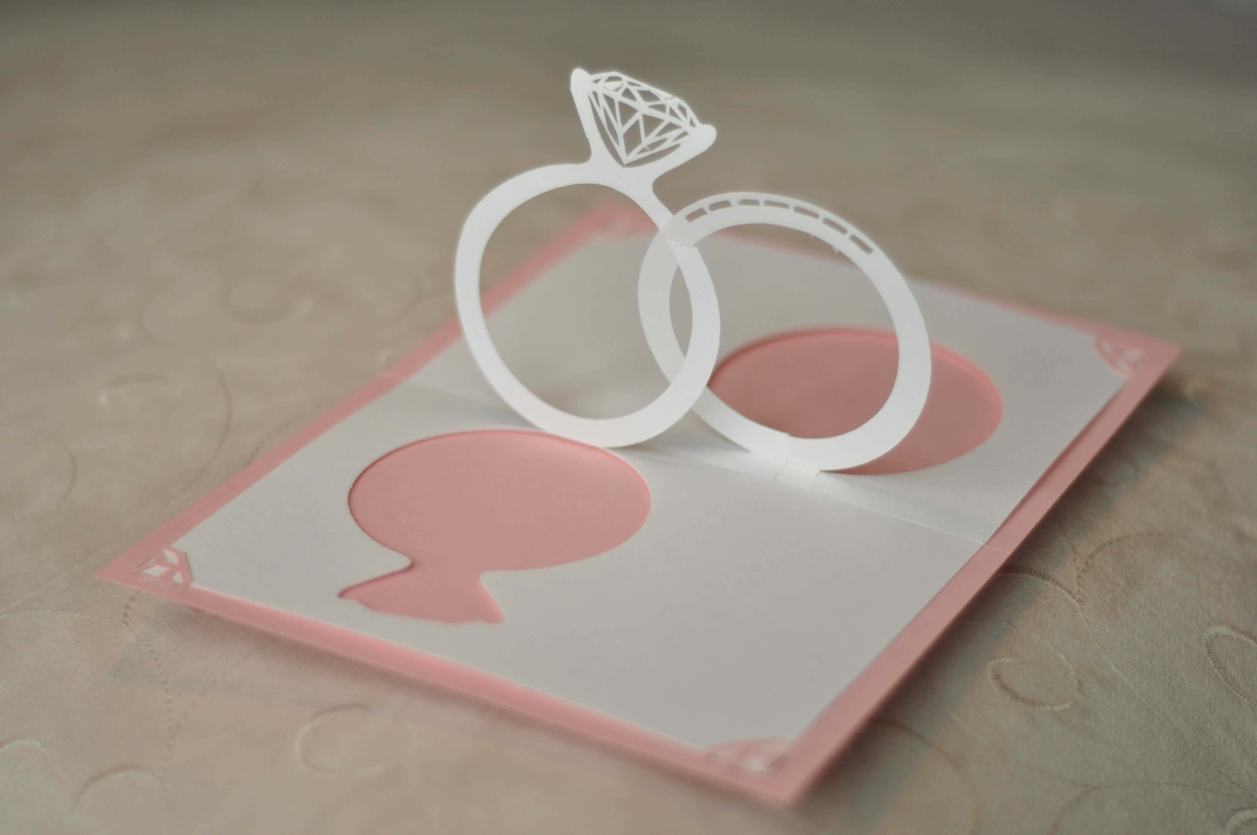 Wedding Invitation Pop Up Card: Linked Rings - Creative Pop pertaining to Pop Up Wedding Card Template Free