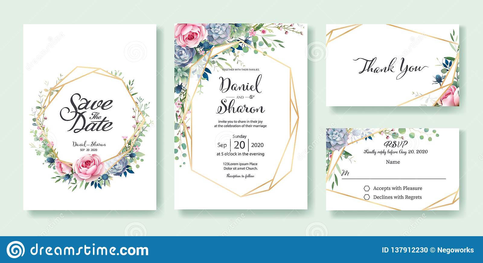 Wedding Invitation, Save The Date, Thank You, Rsvp Card within Template For Rsvp Cards For Wedding