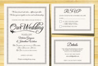 Wedding Invitation Template – Instant Download – Printable for Free Printable Wedding Rsvp Card Templates