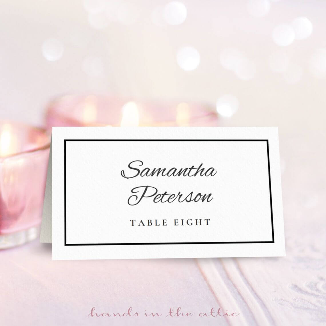 Wedding Place Card Template | Free On Handsintheattic Throughout Free Place Card Templates Download