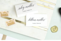 Wedding Place Card Template, Printable Escort Cards, Modern regarding Printable Escort Cards Template