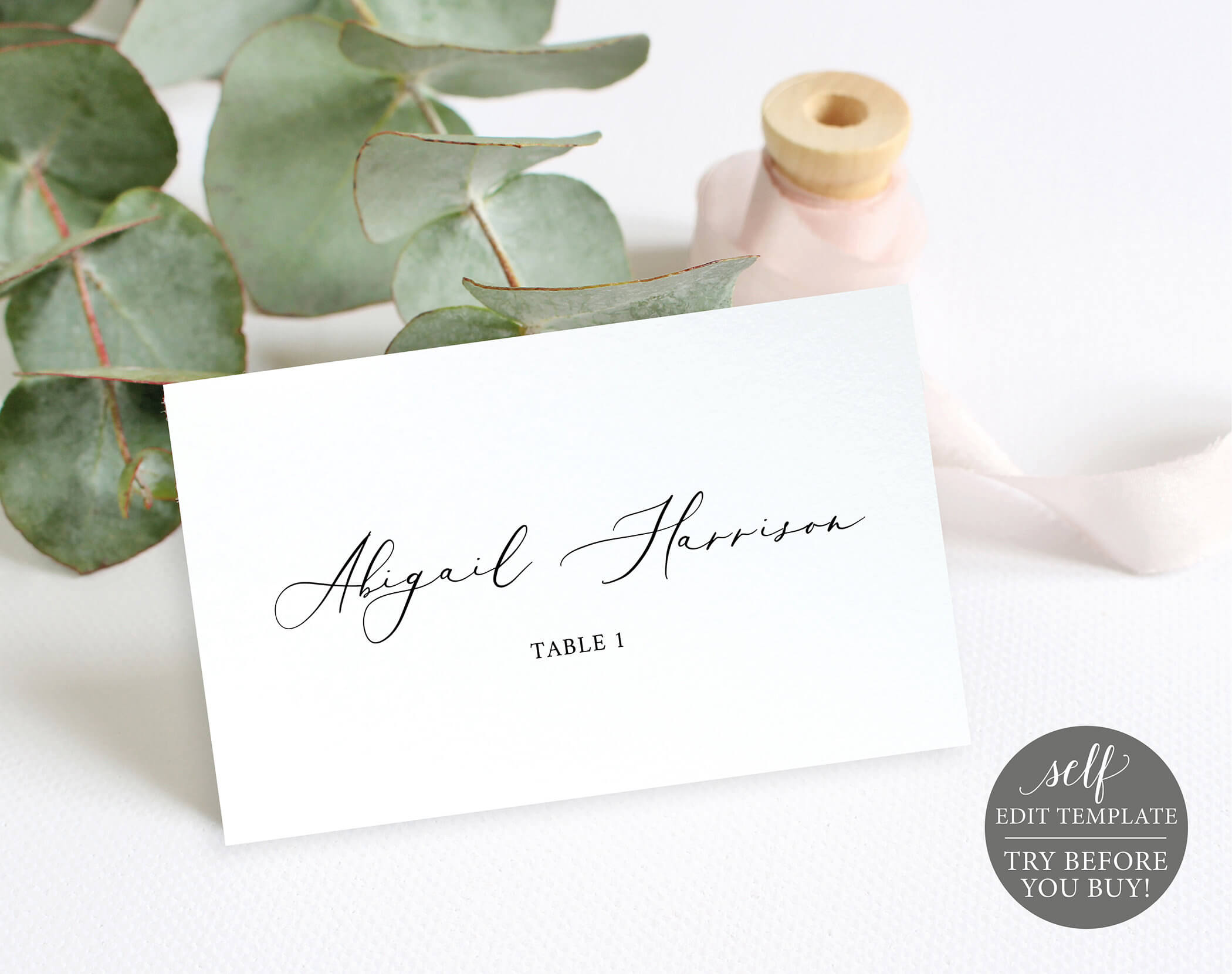 Wedding Place Cards Template, 100% Editable Wedding Seating Inside Printable Escort Cards Template