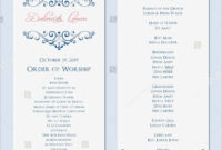 Wedding Program Template Word Document – Templates with regard to Free Printable Wedding Program Templates Word