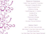 Wedding Program Templates Free | Weddingclipart throughout Free Printable Wedding Program Templates Word