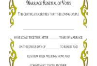 Wedding Renewal Certificate Template – Fill Online inside Blank Marriage Certificate Template