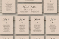 Wedding Seating Chart Template – Printable Seating Chart pertaining to Wedding Seating Chart Template Word