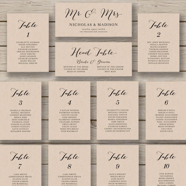 Wedding Seating Chart Template – Printable Seating Chart Pertaining To Wedding Seating Chart Template Word