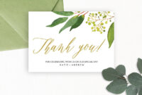 Wedding Thank You Card Editable Template – Free Print with regard to Template For Wedding Thank You Cards