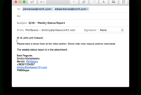 Weekly Project Status Report That Works (+Template throughout Project Status Report Email Template