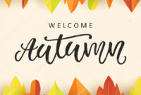 Welcome Autumn Banner Template With Bright Colorful Fall with Welcome Banner Template