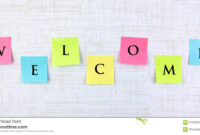 Welcome Banner With Sticky Notes Stock Image – Image Of regarding Welcome Banner Template