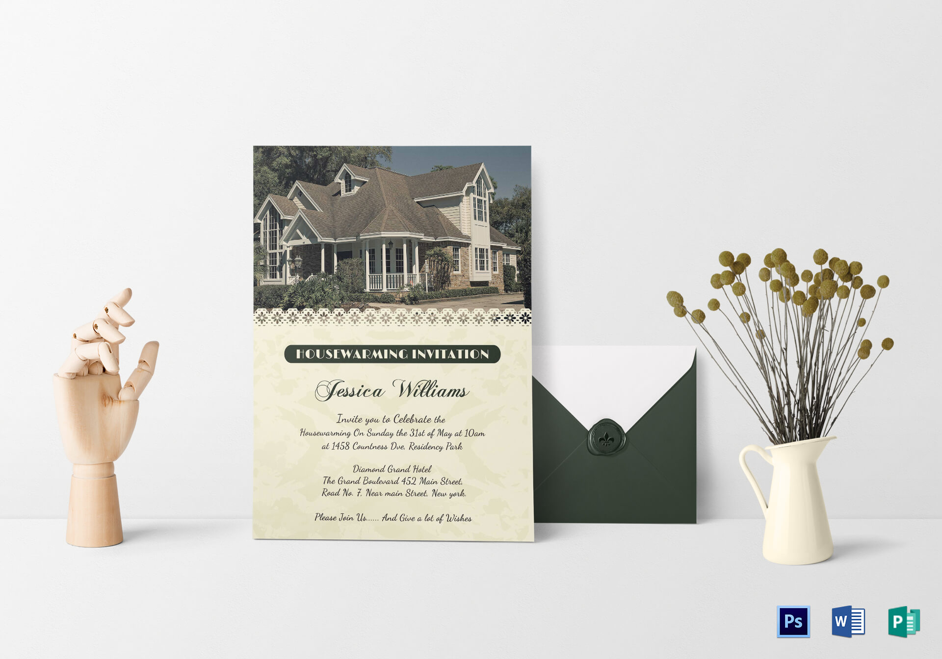 Welcoming Housewarming Invitation Card Template with regard to Free Housewarming Invitation Card Template