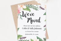 We've Moved Announcement Template Cards, Instant Download Moving  Announcement, New Home Announcement Card, Relocating Card, We're Moving In Moving Home Cards Template