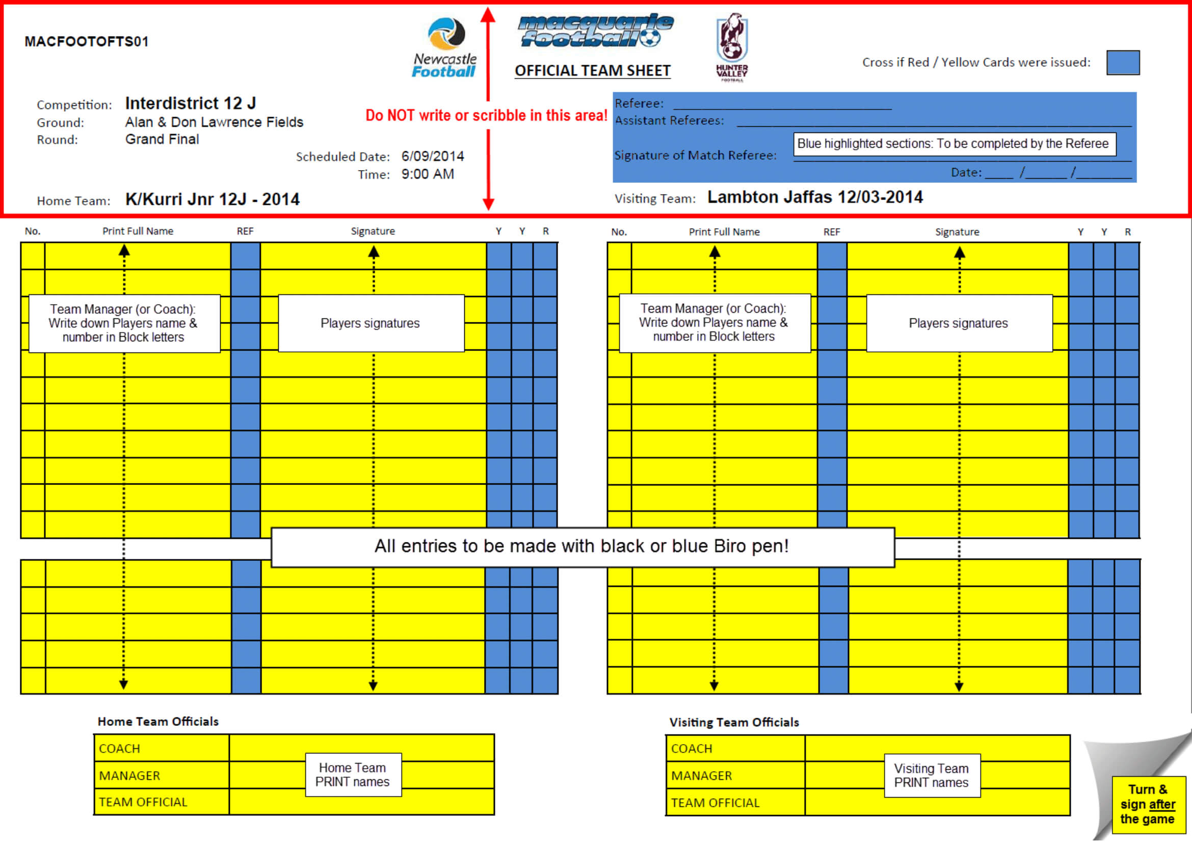 What Do The Referees Write During The Matches? - Sports inside Soccer Referee Game Card Template