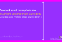 What's The Correct Facebook Event Image Size? 2019 Update pertaining to Facebook Banner Size Template