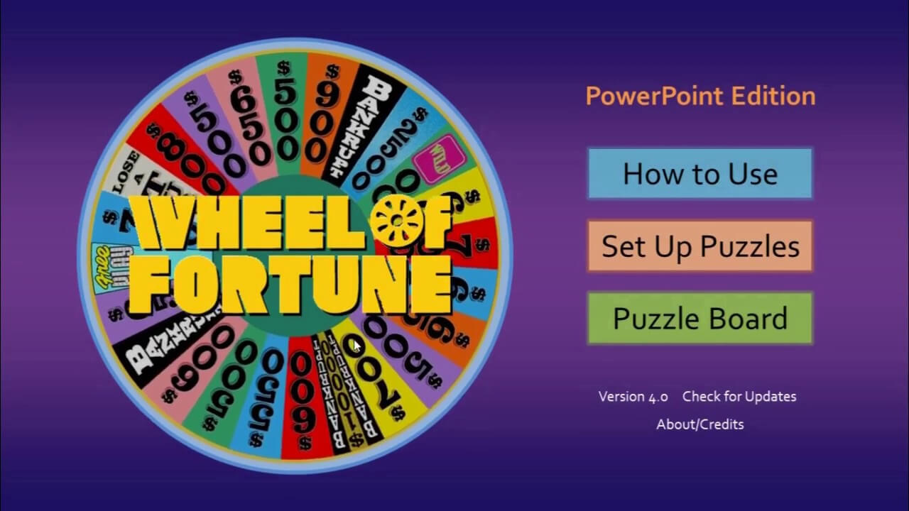 Wheel Of Fortune For Powerpoint - Gamestim Inside Wheel Of Fortune Powerpoint Game Show Templates