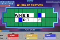 Wheel Of Fortune For Powerpoint – Gamestim within Wheel Of Fortune Powerpoint Template