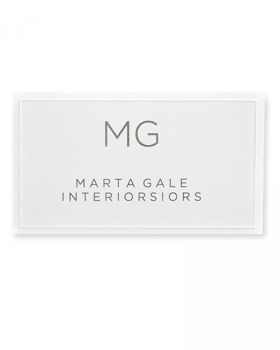 White Embossed Printable Business Cards Intended For Gartner Business Cards Template