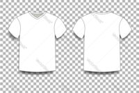 White Men S T-Shirt Template V-Neck Front And regarding Blank V Neck T Shirt Template
