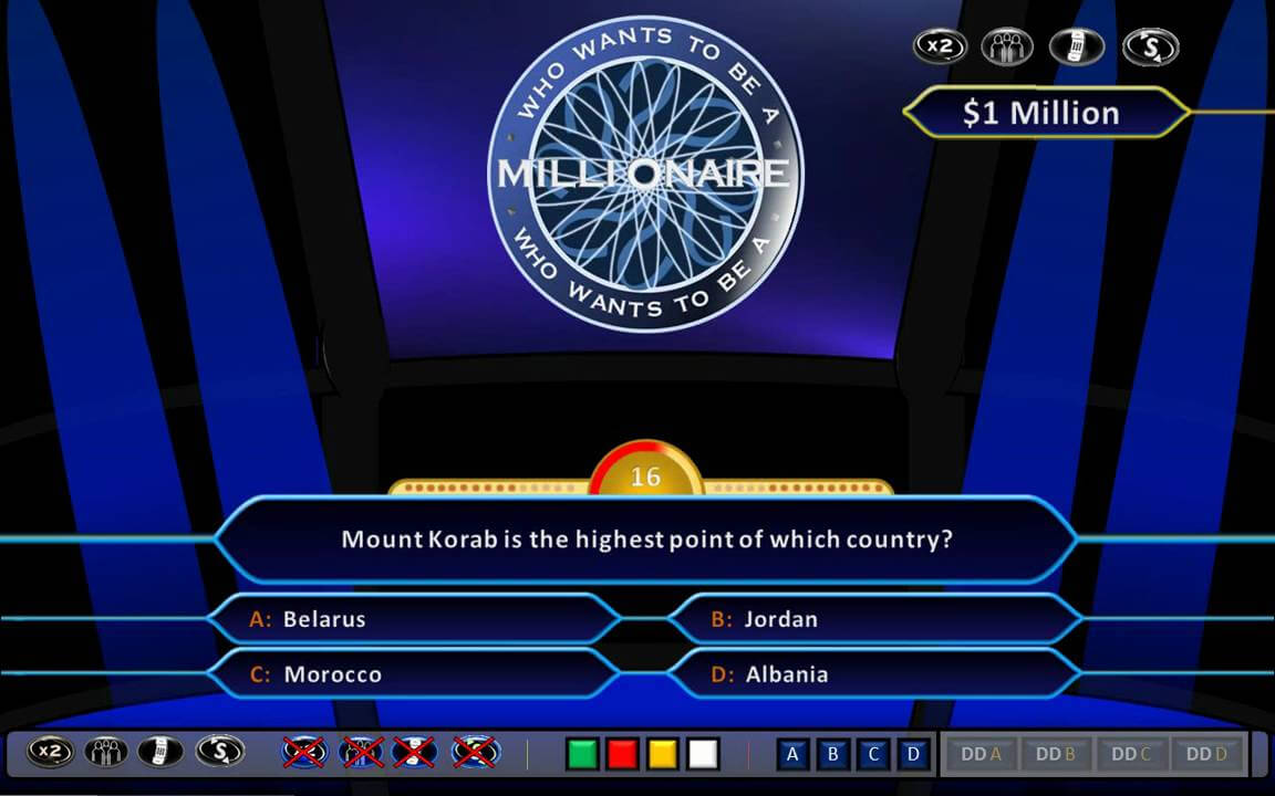 Who Wants To Be A Millionaire Demonstration [Hd, Ppt 2010, Us Clock Format] Within Who Wants To Be A Millionaire Powerpoint Template