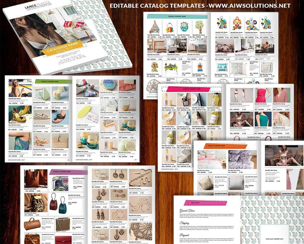 Wholesale Catalog Template-Id06 | Catalog | Product Catalog throughout Word Catalogue Template