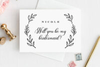 Will You Be My Bridesmaid Card, Instant Download in Will You Be My Bridesmaid Card Template