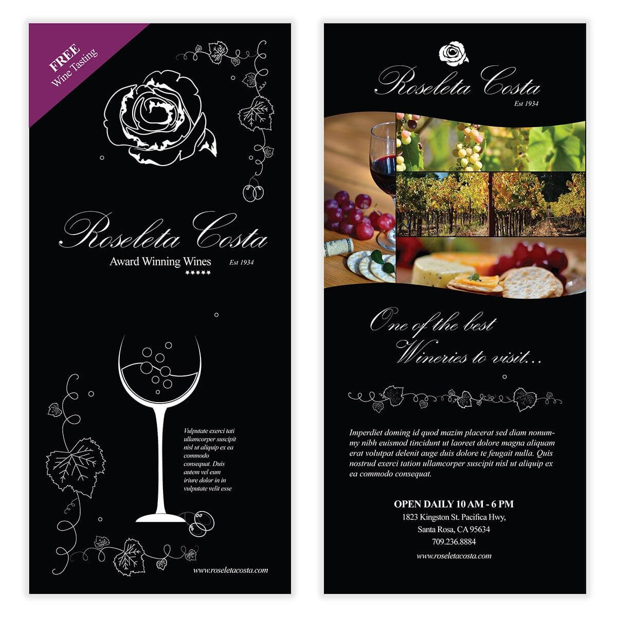 Wine Flyer Template 03 | Chakra Posters, Flyers, & Product Within Wine Brochure Template